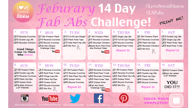 14 Day Fab Abs Challenge