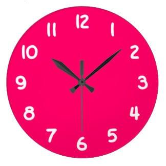 Fit people pink clock