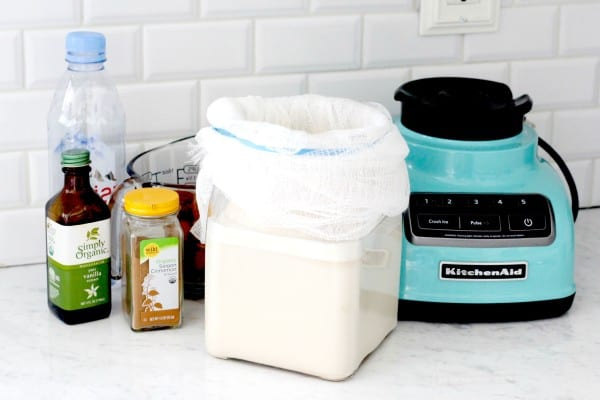 how to make raw almond milk at home