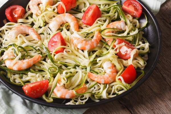 paleo pasta zucchini noodles shrimp