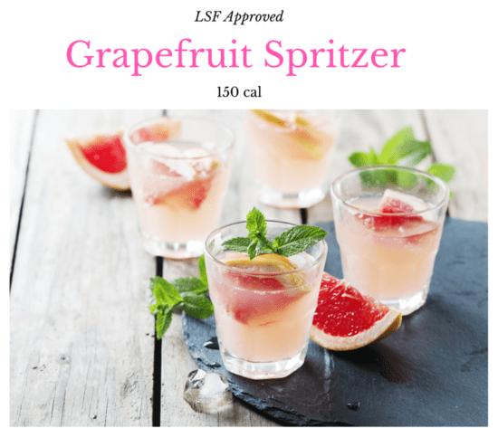 Grapefruit spritzer, summer cocktails, low calorie cocktails, low calorie, diet drinks