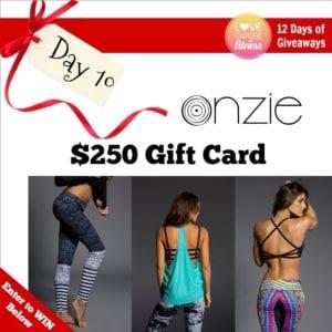 onzie fitness giveaways