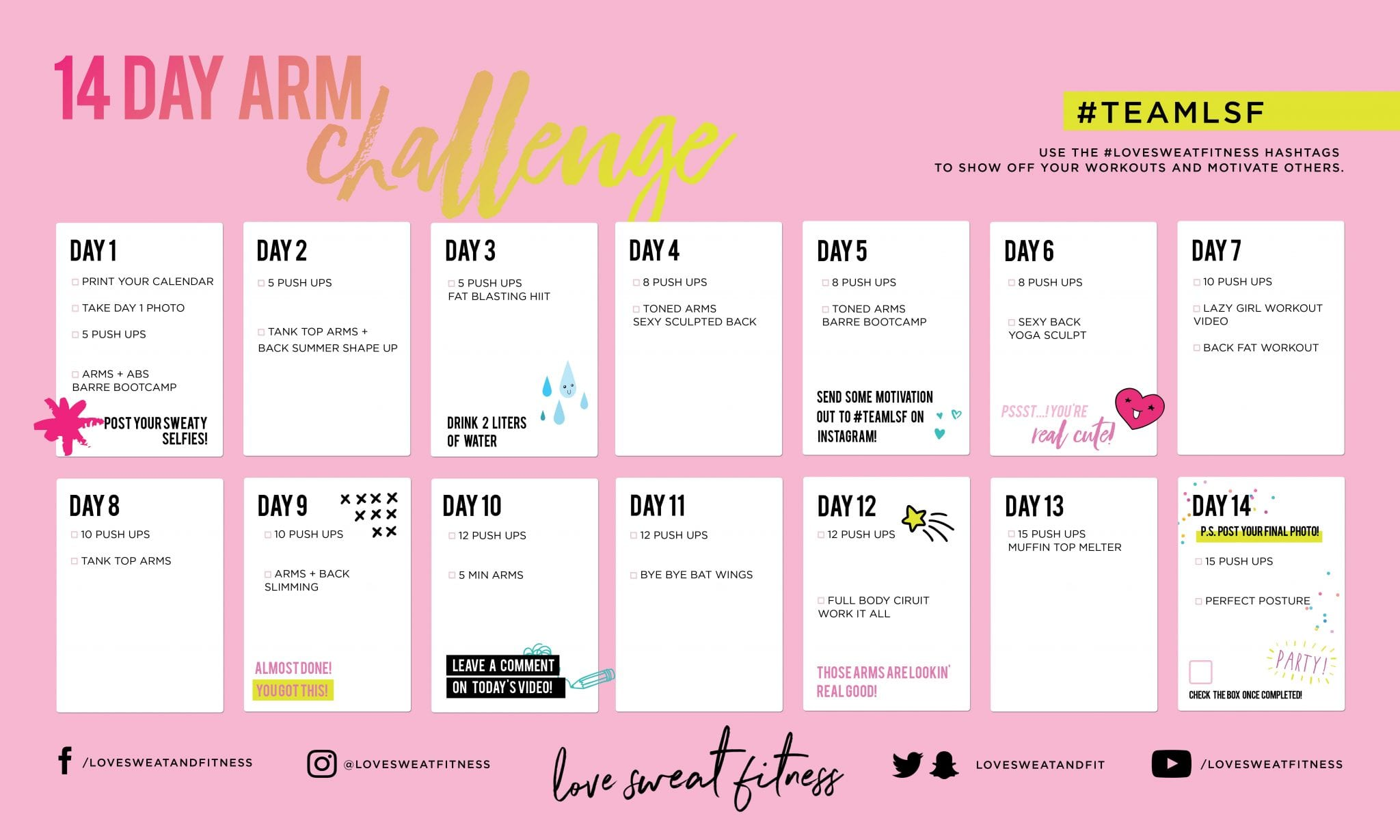 14 Day Arms Challenge