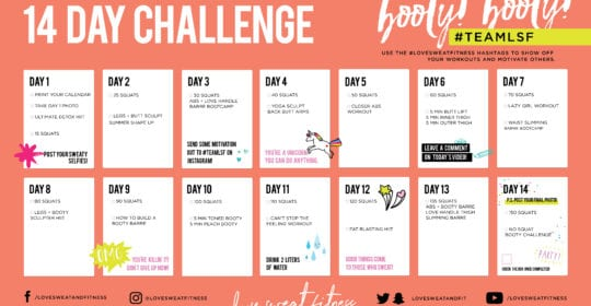 14 Day Booty Legs Challenge