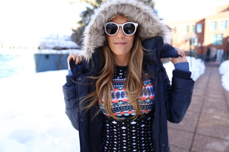 faux fur hood jacket aspen colorado