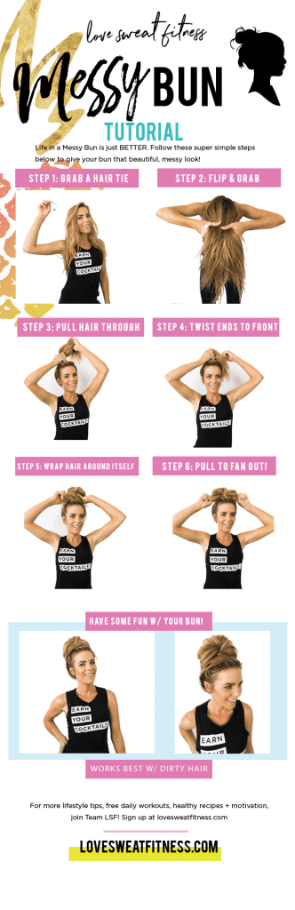 how to do a messy bun, messy bun tutorial, messy bun hairstyle