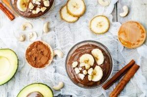 Post-holiday detox: avocado pudding, vegan chocolate pudding, paleo chocolate pudding, pudding, healthy chocolate pudding, 5 ingredient recipes