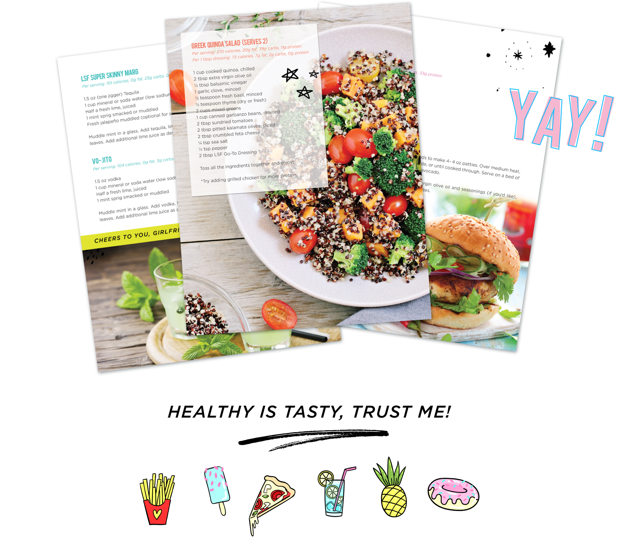 Healthy recipes that taste like they aren't ;) Download your Guiltless Nutrition Guide TODAY!