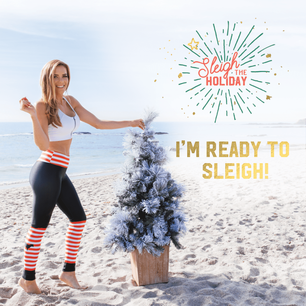 Everything You Need to Sleigh the Holiday, free daily workouts, holiday challenge, fitness challenge, fitness, giveaways, holiday, women's workouts, at home daily workouts, at home exercises, workouts for women, weekly workouts