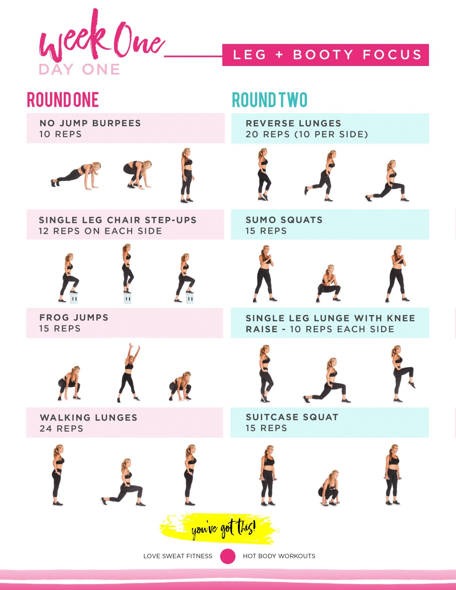 best 2 day exercise guide