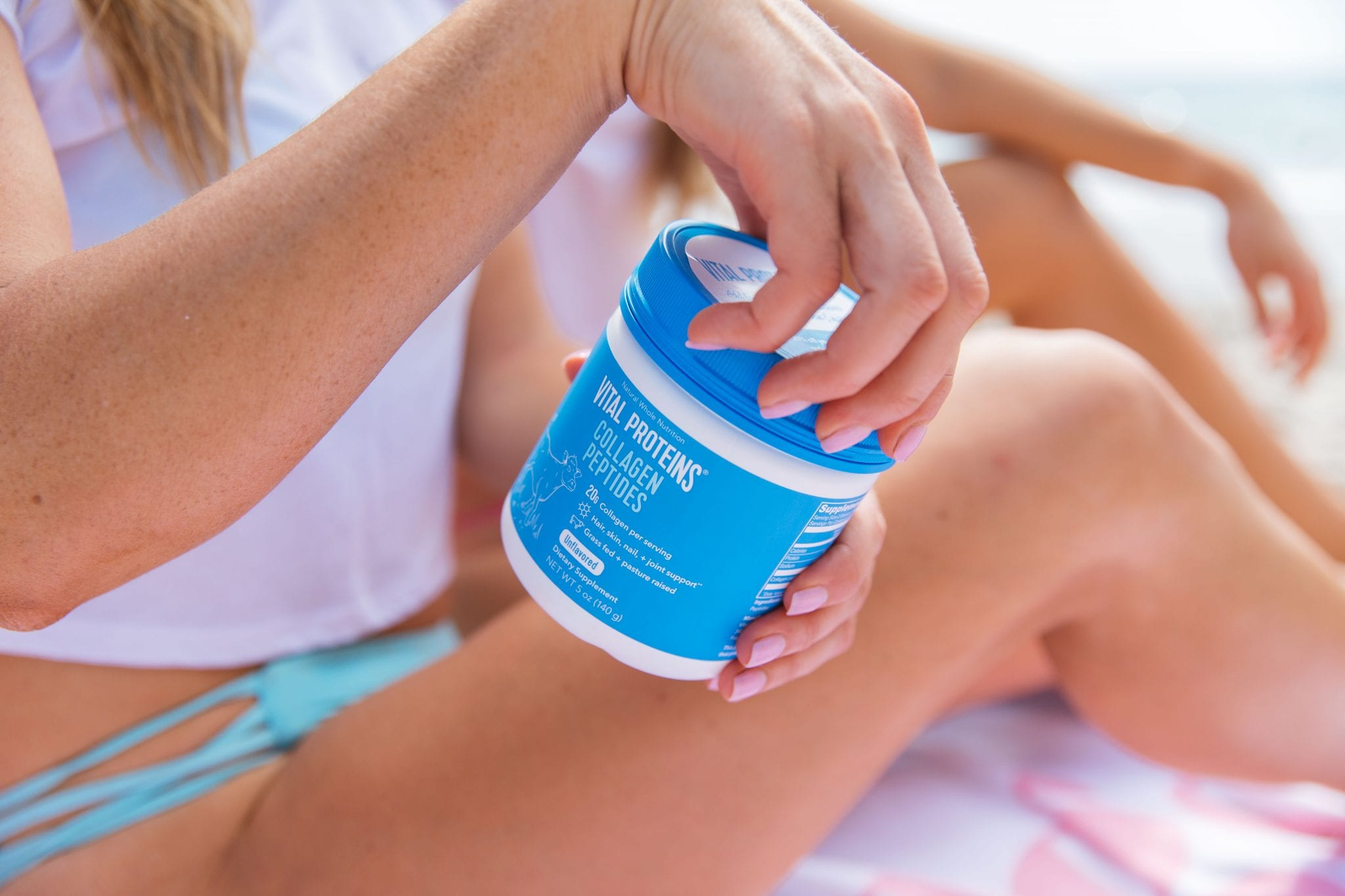 Best protein for post-workout energy: Vital Proteins collagen! In our summer shape up bundle.