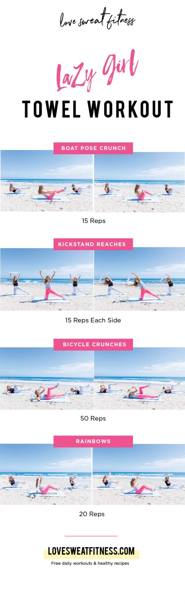 graphic regarding Printable Ab Workout referred to as Lazy Woman Beach front Towel Training - Take pleasure in Sweat Physical fitness