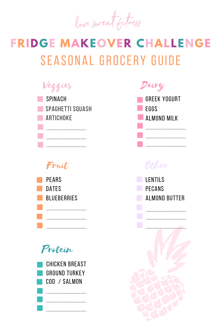 Grocery shopping guide to help you eat seasonally on a budget