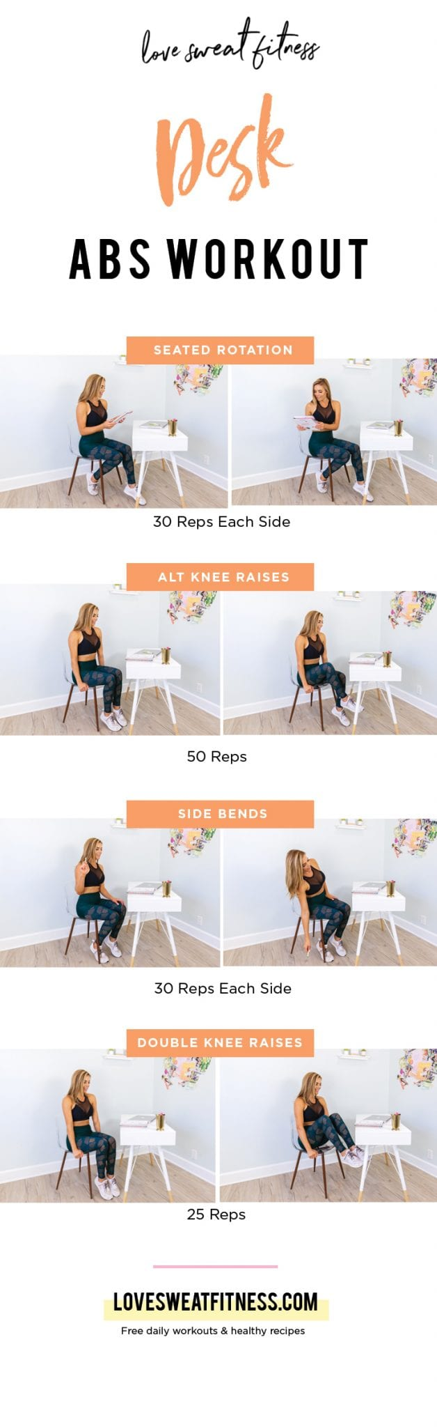 Get An Abs Workout At Your Desk Love Sweat Fitness