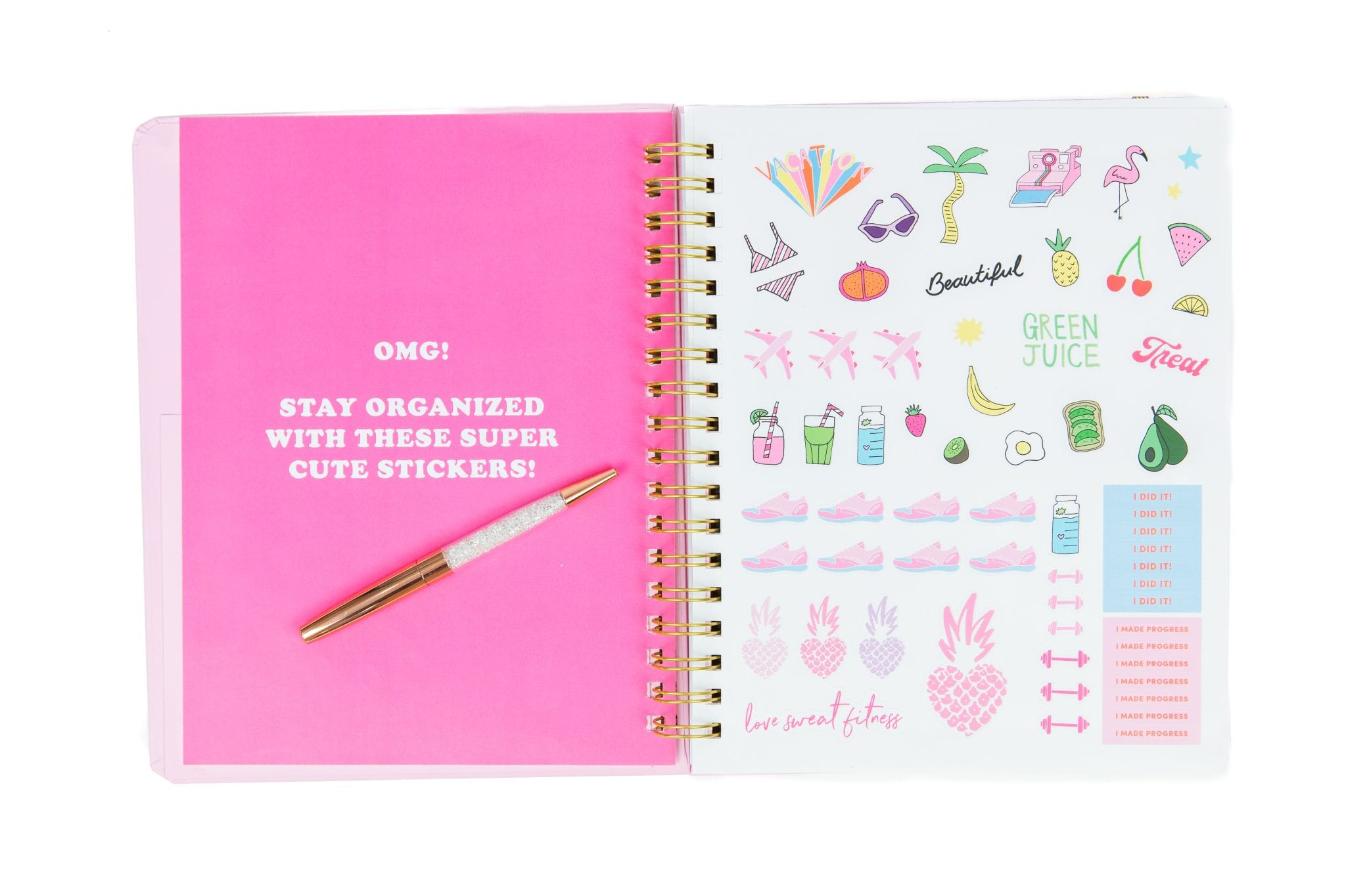 The first LSF sticker sheet comes exclusively with our brand new #Goals 2019 Planner!
