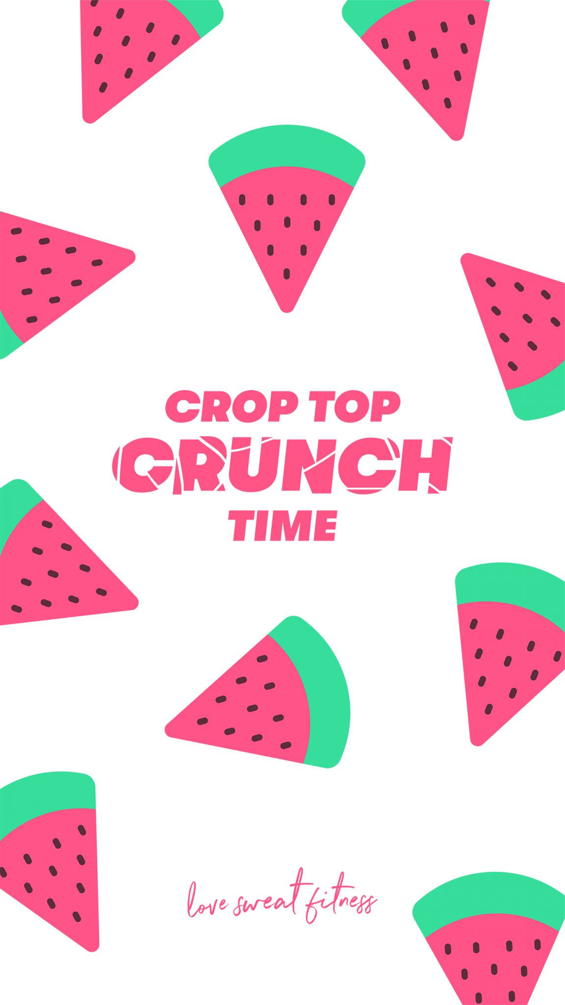 Crop Top Crunch Time Phone Wallpapers - Love Sweat Fitness