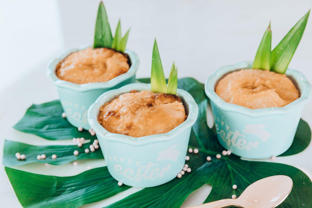 grain free pineapple easter pound cakes