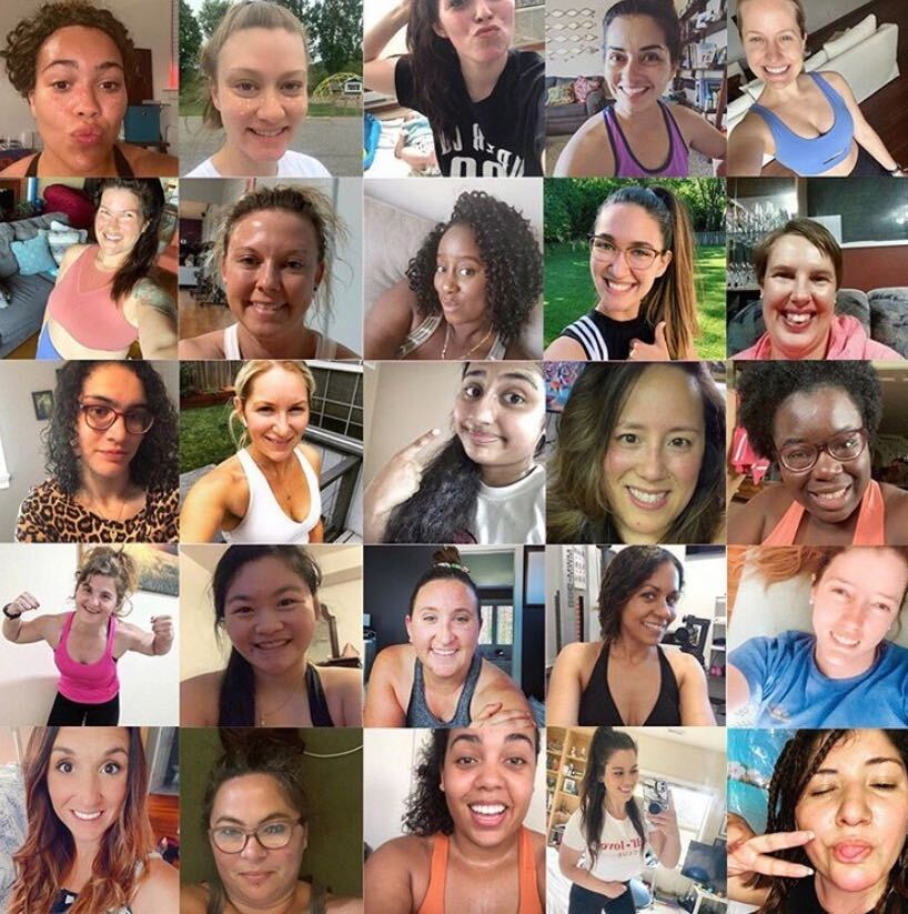 love sweat fitness community, womens fitness community, collage of women