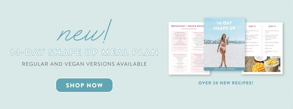 14 day shape up meal plan