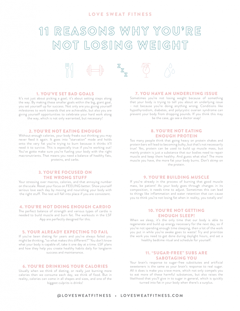 11 reasons why you're not losing weight